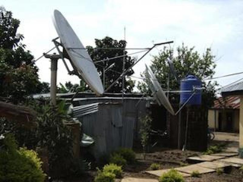 The Communications Dish outside Fantsuam